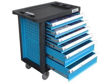 Įrankių spintelė su 245 įrankiais, 6 stalčių