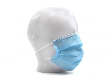 Trisluoksnė chirurginė kaukė CE, 50 vnt