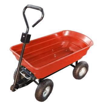 Sodo vežimėlis raudonas