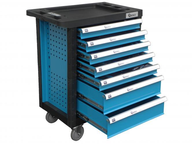 Serviso vežimėlis 7 stalčių, su 272 įrankiais.