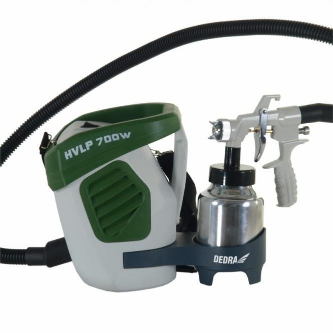 DED7413 HVLP (žemo slėgio) dažų purškimo agregatas 700W